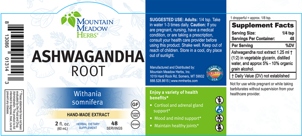 Ashwagandha Root Extract (2 oz.)